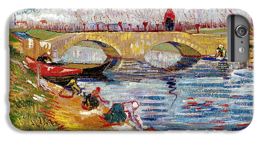 Lef221091 IPhone 7 Plus Case featuring the painting The Gleize Bridge Over The Vigneyret Canal by Vincent van Gogh