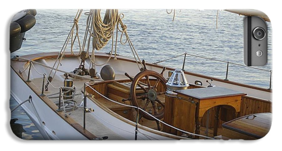 Sail IPhone 7 Plus Case featuring the photograph The Helm by Faith Harron Boudreau