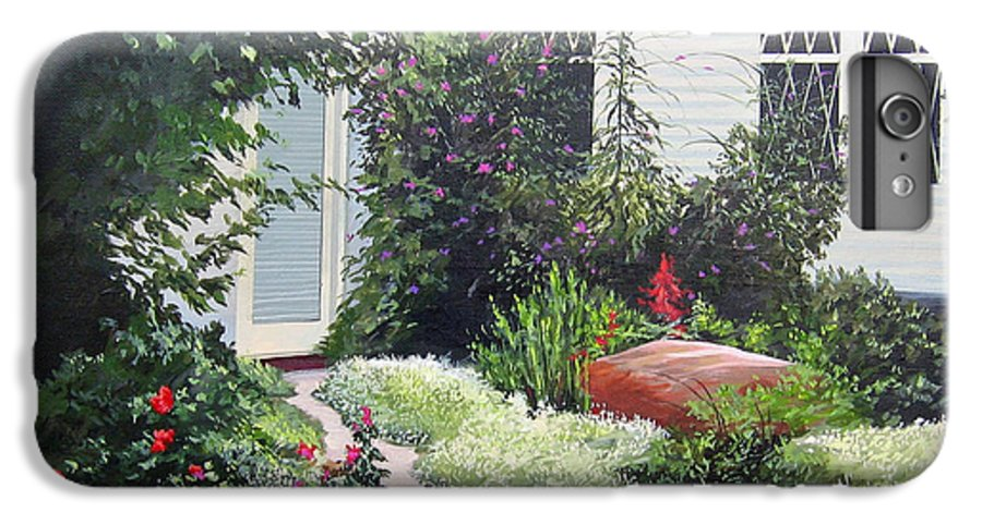 Garden Path IPhone 7 Plus Case featuring the painting The Hidden Garden by Hunter Jay