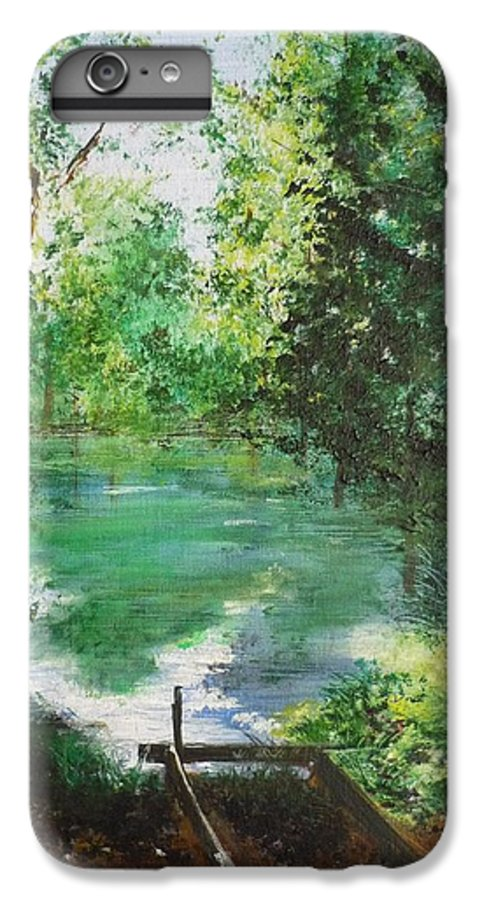 Lake IPhone 7 Plus Case featuring the painting The Lake At Stansted Unfinished by Lizzy Forrester