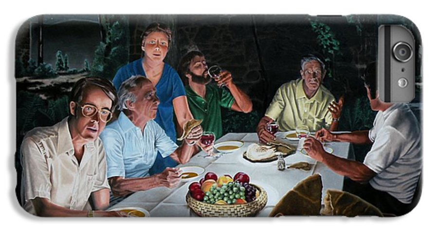 Last Supper IPhone 7 Plus Case featuring the painting The Last Supper by Dave Martsolf