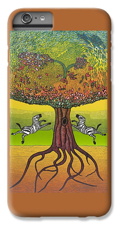 Landscape IPhone 7 Plus Case featuring the mixed media The Life-giving Tree. by Jarle Rosseland