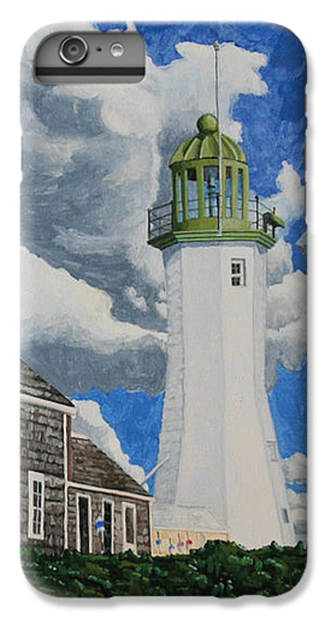 Lighthouse IPhone 7 Plus Case featuring the painting The Light Keeper's House by Dominic White