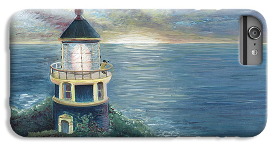 Lighthouse IPhone 7 Plus Case featuring the painting The Lighthouse by Nadine Rippelmeyer