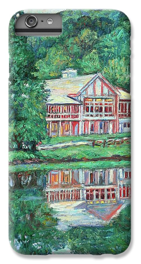 Lodge Paintings IPhone 7 Plus Case featuring the painting The Lodge At Peaks Of Otter by Kendall Kessler
