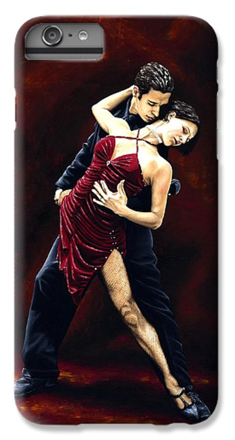 Tango IPhone 7 Plus Case featuring the painting The Passion Of Tango by Richard Young