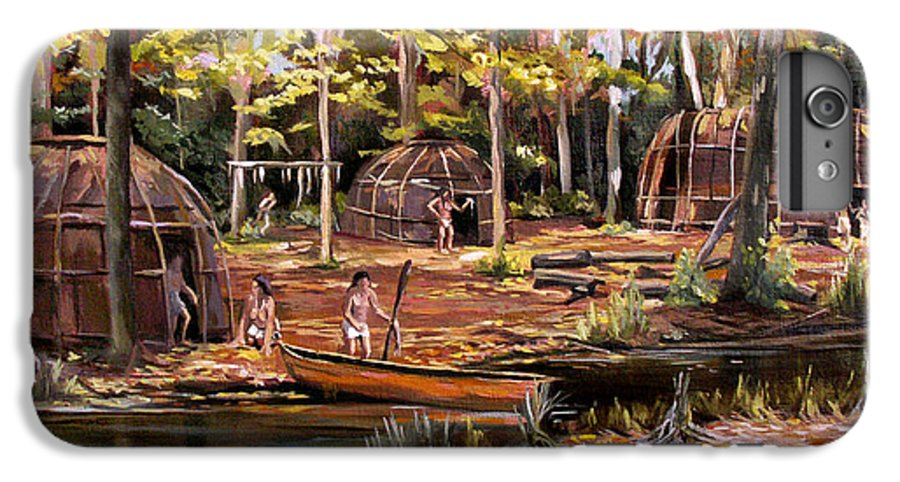 Institute Of American Indian IPhone 7 Plus Case featuring the painting The Pequots by Nancy Griswold