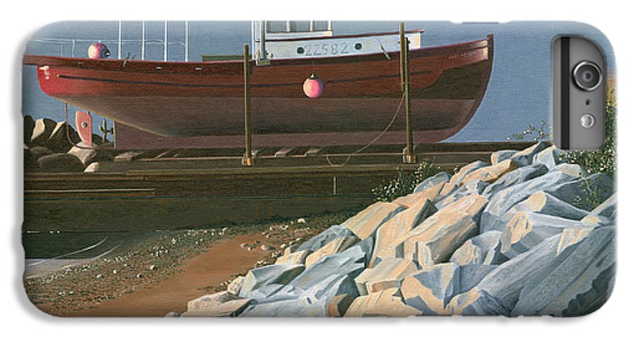 Ship IPhone 7 Plus Case featuring the painting The Red Troller Revisited by Gary Giacomelli