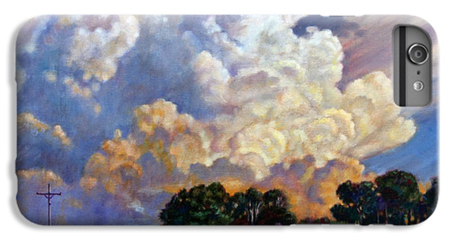 Landscape IPhone 7 Plus Case featuring the painting The Road Home by John Lautermilch