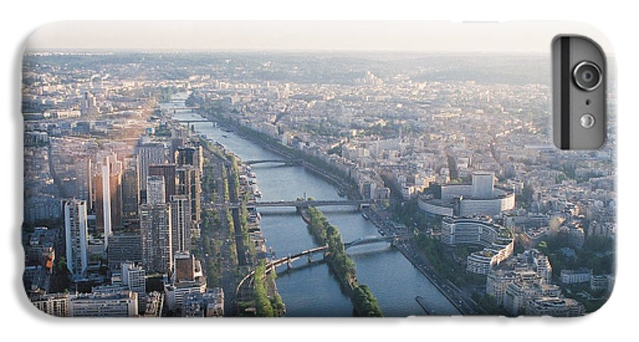 City IPhone 7 Plus Case featuring the photograph The Seine River In Paris by Nadine Rippelmeyer