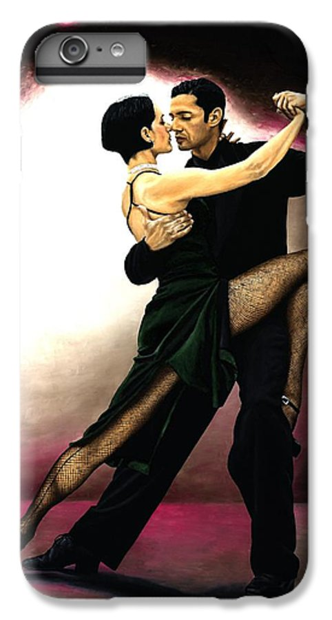Tango IPhone 7 Plus Case featuring the painting The Temptation Of Tango by Richard Young