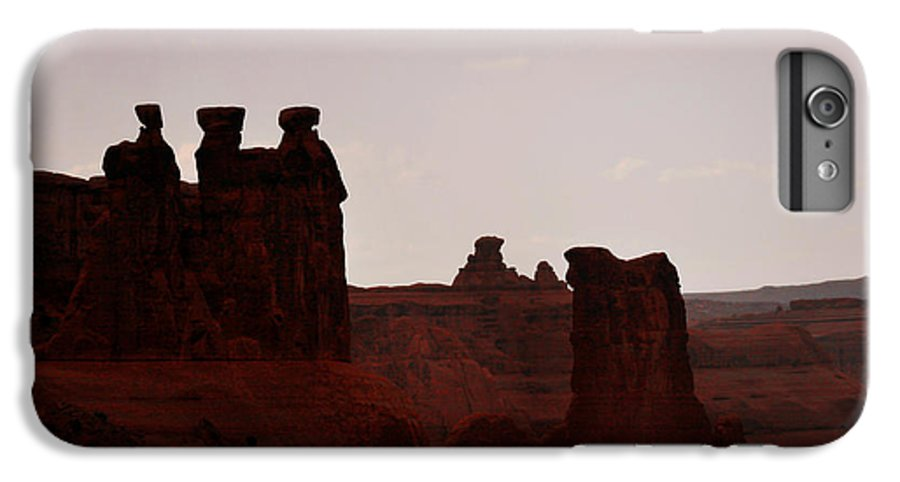Landscape IPhone 7 Plus Case featuring the photograph The Three Gossips Arches National Park Utah by Christine Till