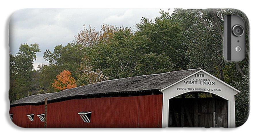 Landscape IPhone 7 Plus Case featuring the photograph The West Union Covered Bridge by John McAllister