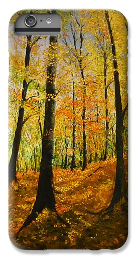Fall IPhone 7 Plus Case featuring the painting The Wood For The Trees by Lizzy Forrester