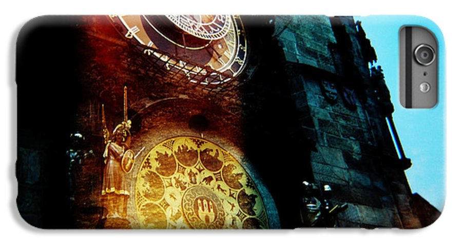 Clock Time Holga Color Photograph Praha IPhone 7 Plus Case featuring the photograph Time Is Burning by Olivier De Rycke