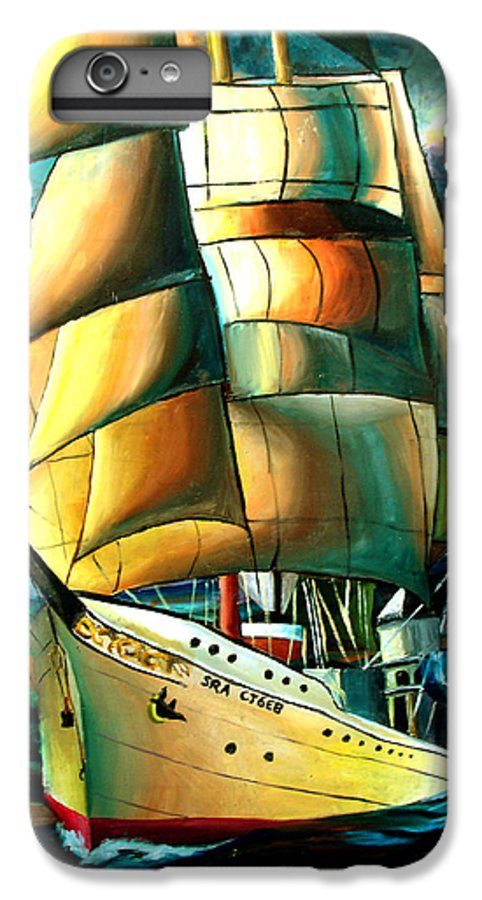 Ship IPhone 7 Plus Case featuring the drawing Timeless by Darcie Duranceau