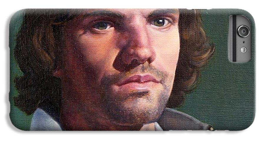 Portrait IPhone 7 Plus Case featuring the painting Toby by Deborah Allison