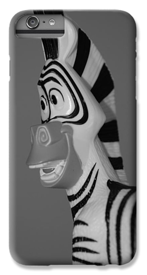 Black And White IPhone 7 Plus Case featuring the photograph Toy Zebra by Rob Hans