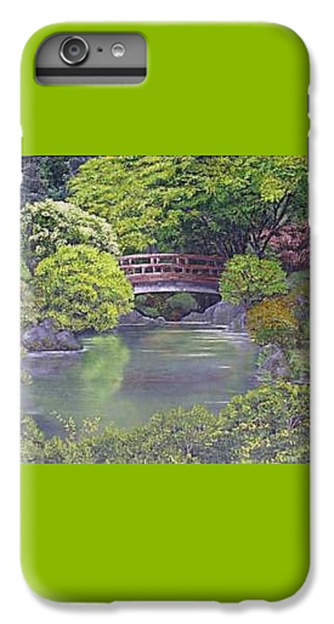 This Peaceful Scene Is An Artist's Rendition Of The Japanese Gardens IPhone 7 Plus Case featuring the painting Tranquility by Darla Boljat