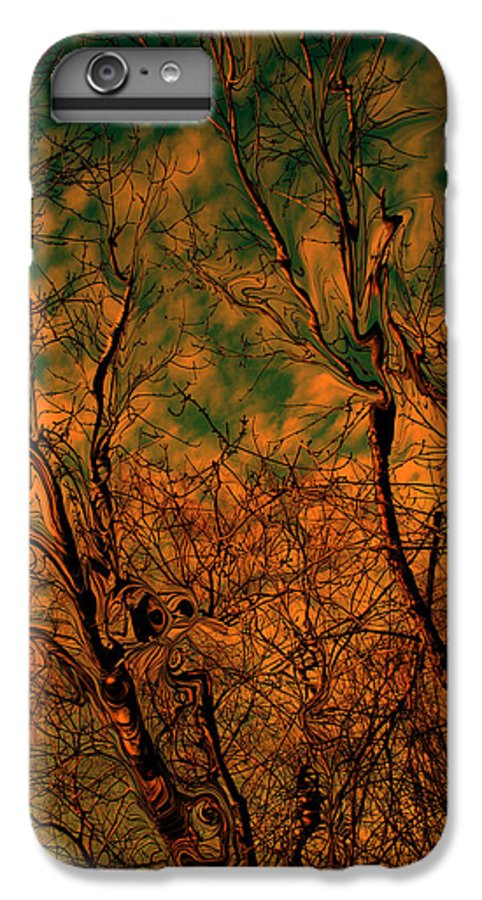 Trees IPhone 7 Plus Case featuring the photograph Tree Abstract by Linda Sannuti