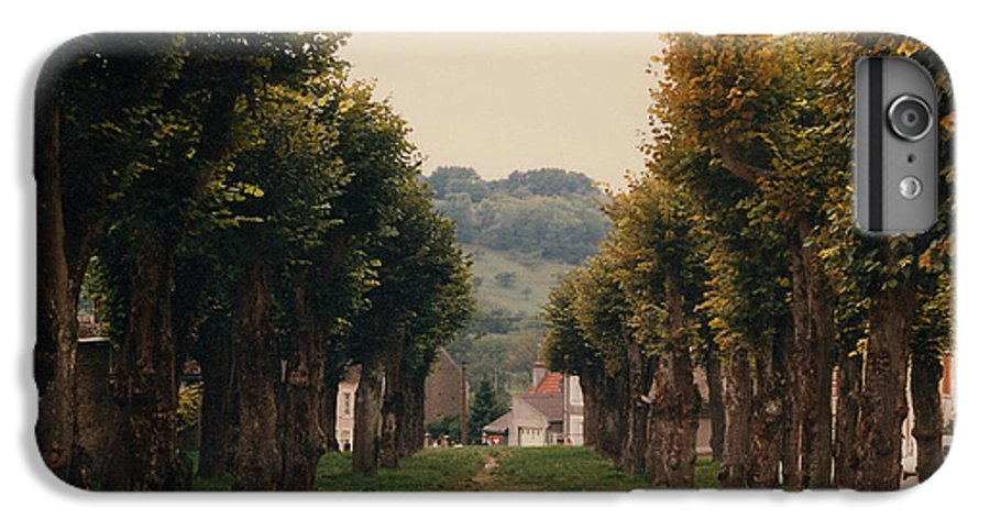 Trees IPhone 7 Plus Case featuring the photograph Tree Lined Pathway In Lyon France by Nancy Mueller