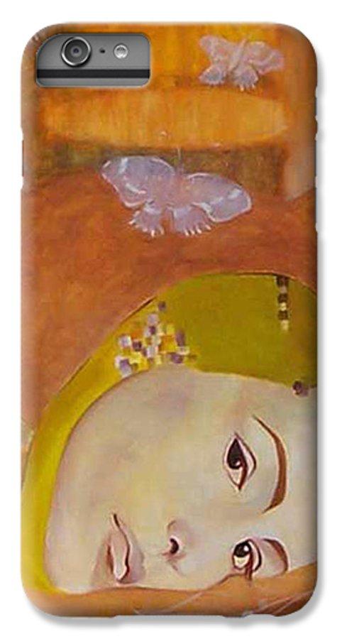 Figurative IPhone 7 Plus Case featuring the painting Trio by Antoaneta Melnikova- Hillman