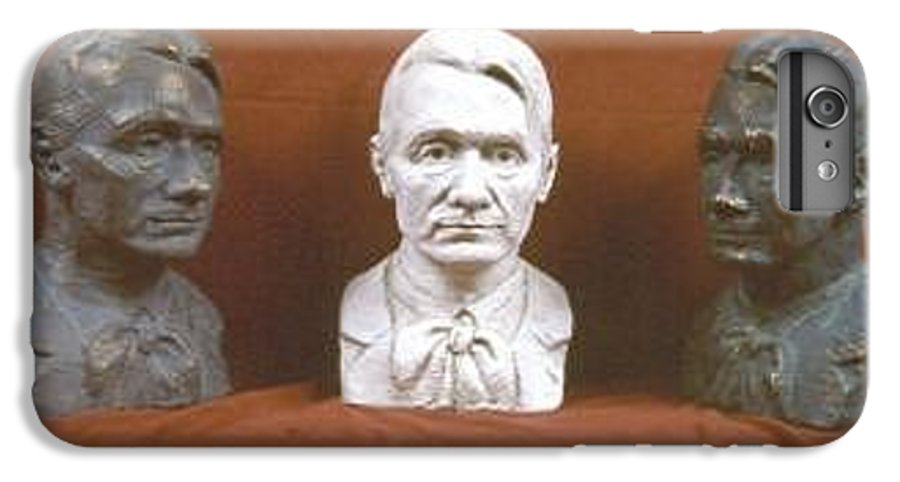 IPhone 7 Plus Case featuring the sculpture Trio Portrait Of Rudolf Steiner by David Dozier