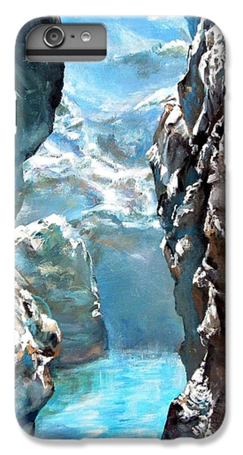 Landscape IPhone 7 Plus Case featuring the painting Trouee 3 by Muriel Dolemieux