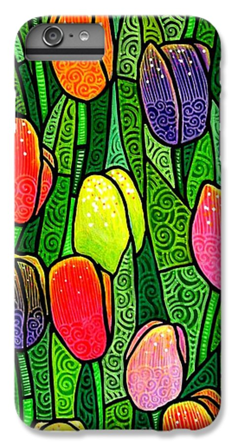 Tulips IPhone 7 Plus Case featuring the painting Tulip Glory by Jim Harris
