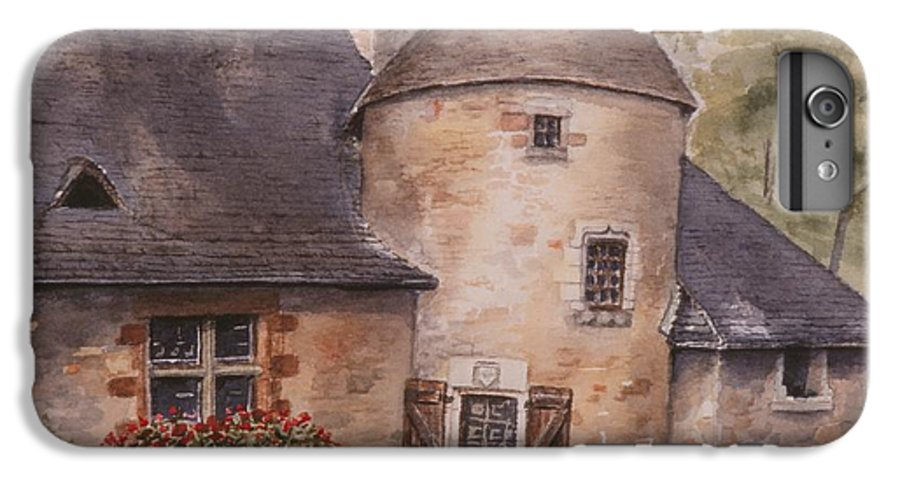 Watercolor IPhone 7 Plus Case featuring the painting Turenne by Mary Ellen Mueller Legault