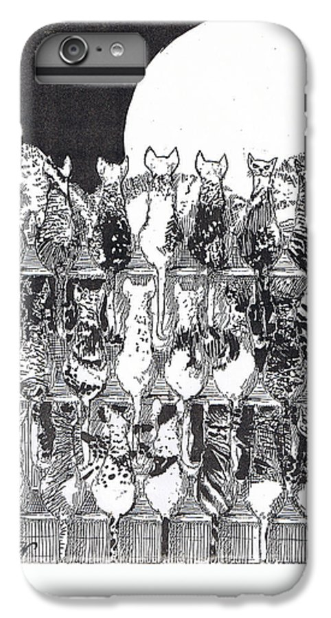 Cats IPhone 7 Plus Case featuring the drawing Two Dozen And One Cats by Seth Weaver