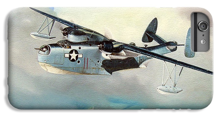 Military IPhone 7 Plus Case featuring the painting Uncle Bubba's Flying Boat by Marc Stewart