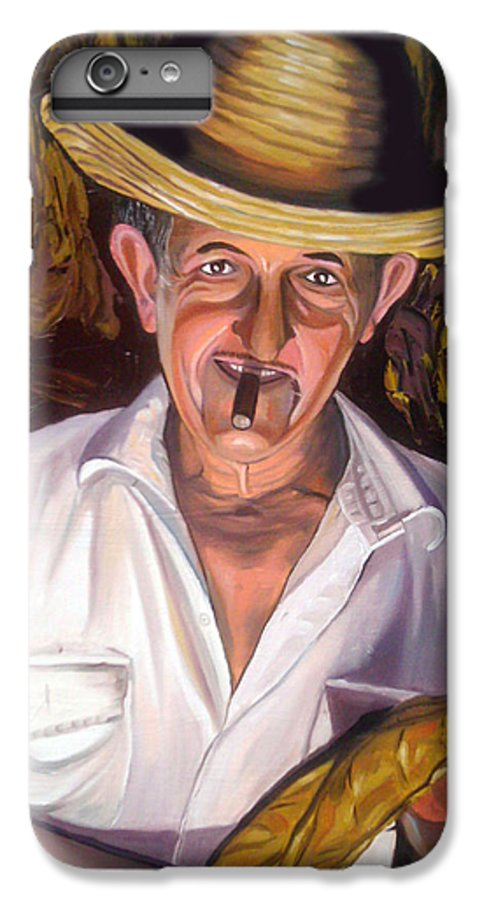 Cuban Art IPhone 7 Plus Case featuring the painting Uncle Frank by Jose Manuel Abraham