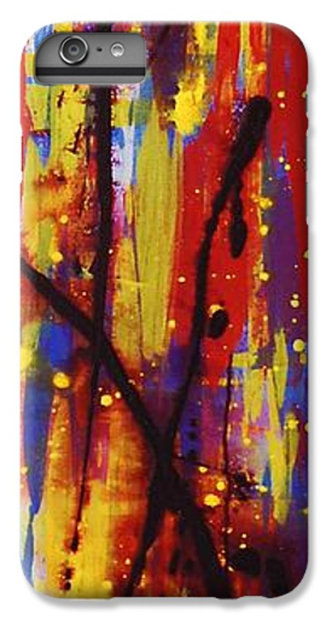 Abstract IPhone 7 Plus Case featuring the painting Urban Carnival by Lauren Luna