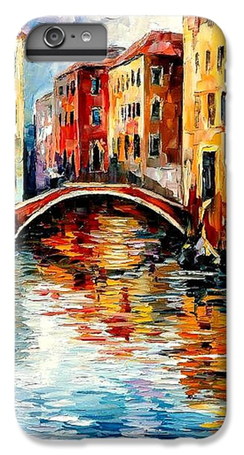 Landscape IPhone 7 Plus Case featuring the painting Venice by Leonid Afremov