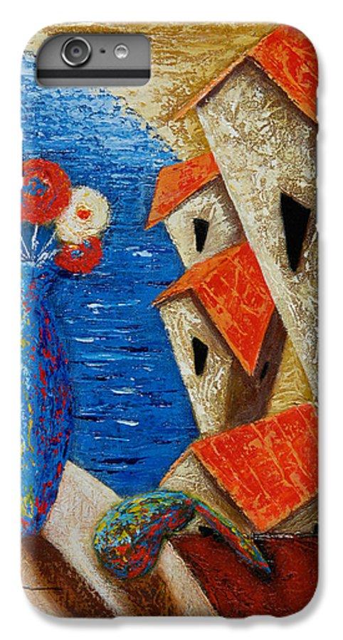 Landscape IPhone 7 Plus Case featuring the painting Ventana Al Mar by Oscar Ortiz