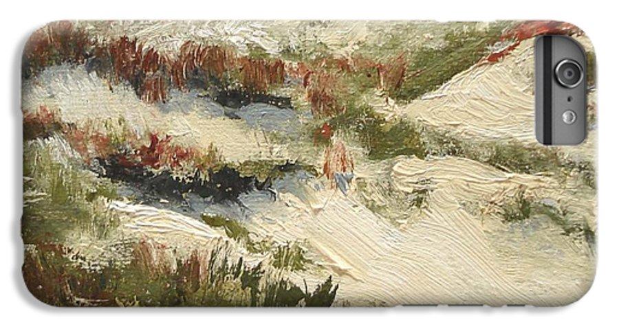 Water IPhone 7 Plus Case featuring the painting Ventura Dunes II by Barbara Andolsek