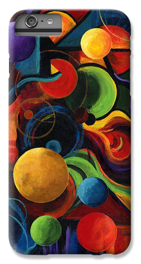 Synergy IPhone 7 Plus Case featuring the painting Vertical Synergy by Laura Swink