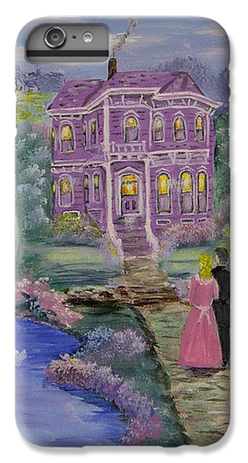 Victorian IPhone 7 Plus Case featuring the painting Victorian Romance 1 by Quwatha Valentine