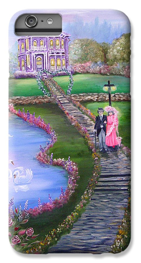 Victorian IPhone 7 Plus Case featuring the painting Victorian Romance 2 by Quwatha Valentine