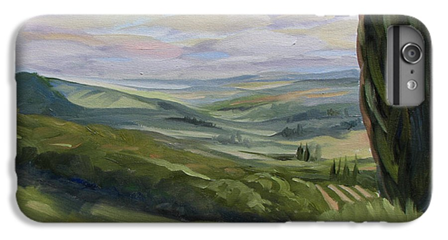 Landscape IPhone 7 Plus Case featuring the painting View From Sienna by Jay Johnson