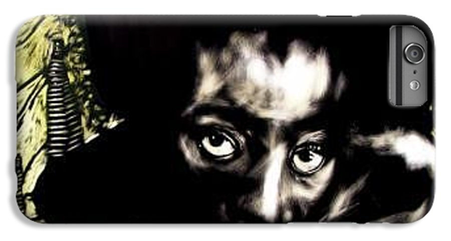 Portriat IPhone 7 Plus Case featuring the mixed media View Of The Unseen by Chester Elmore