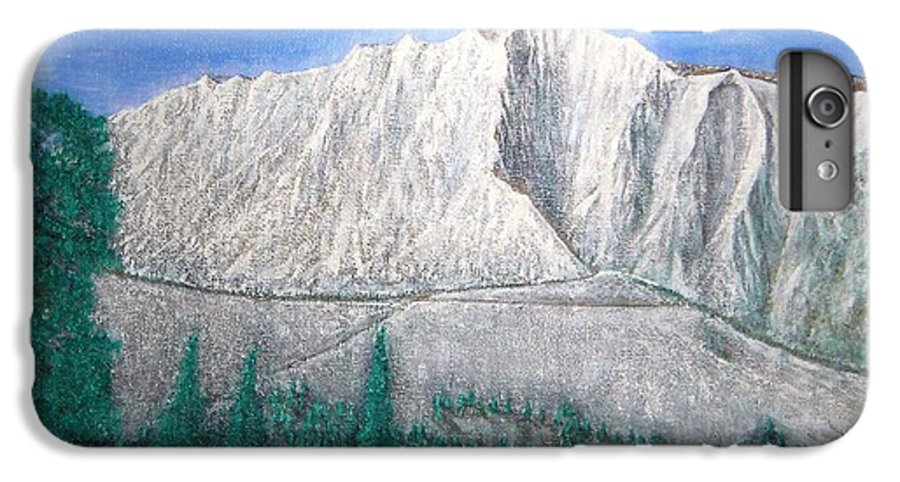 Snow IPhone 7 Plus Case featuring the painting Viewfrom Spruces by Michael Cuozzo