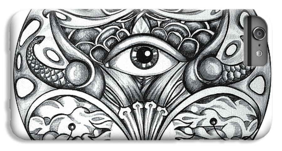 Eye IPhone 7 Plus Case featuring the drawing Vision by Shadia Derbyshire