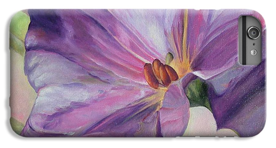 Floral Painting IPhone 7 Plus Case featuring the painting Volubilis by Muriel Dolemieux
