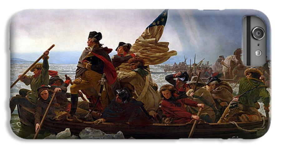 George IPhone 7 Plus Case featuring the painting Washington Crossing The Delaware River by Emmanuel Gottlieb Leutze