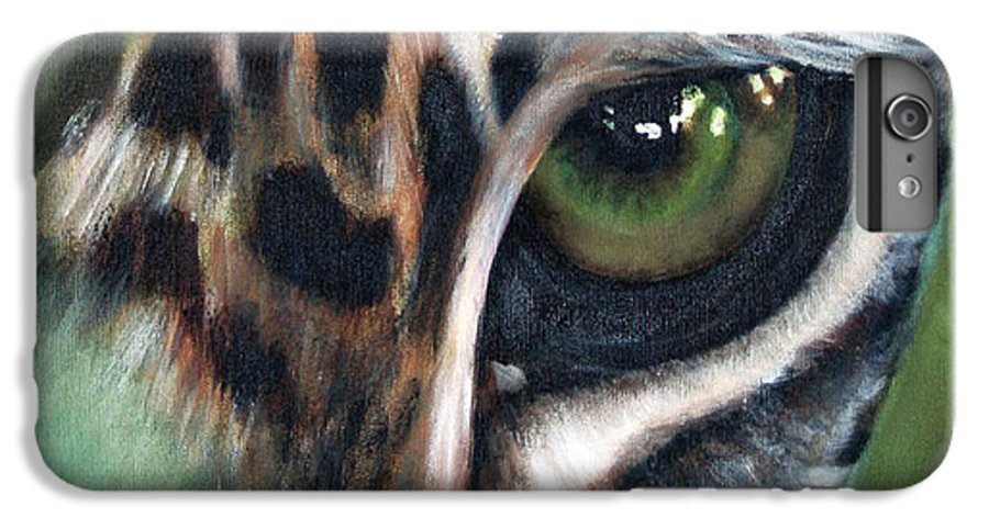 Animals IPhone 7 Plus Case featuring the painting Watching You Watching Me by Fiona Jack