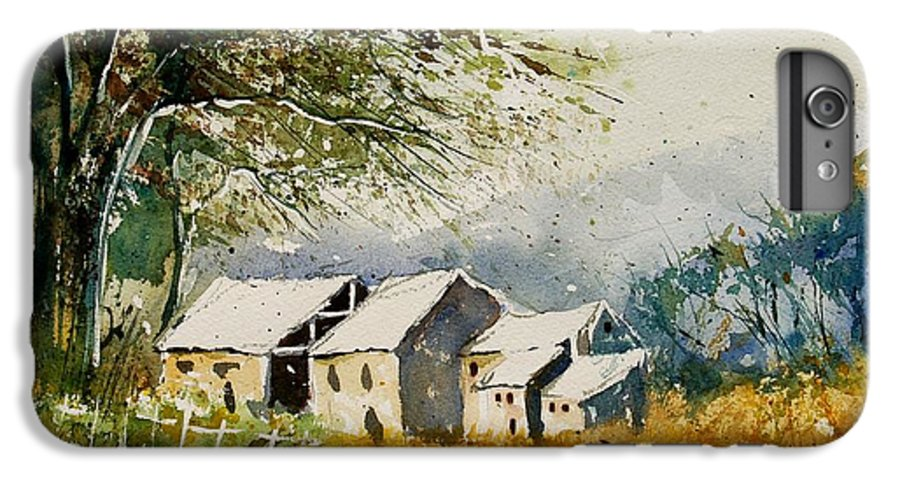 Landscape IPhone 7 Plus Case featuring the painting Watercolor 010708 by Pol Ledent