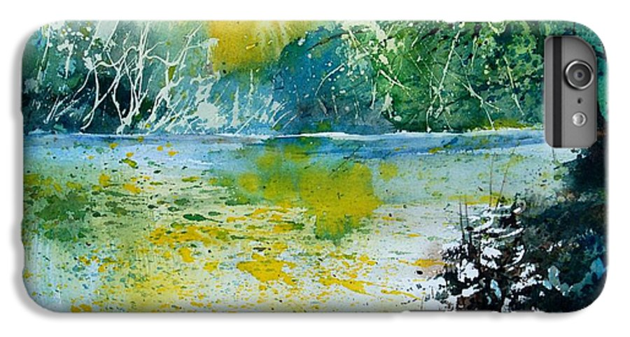 Pond IPhone 7 Plus Case featuring the painting Watercolor 051108 by Pol Ledent