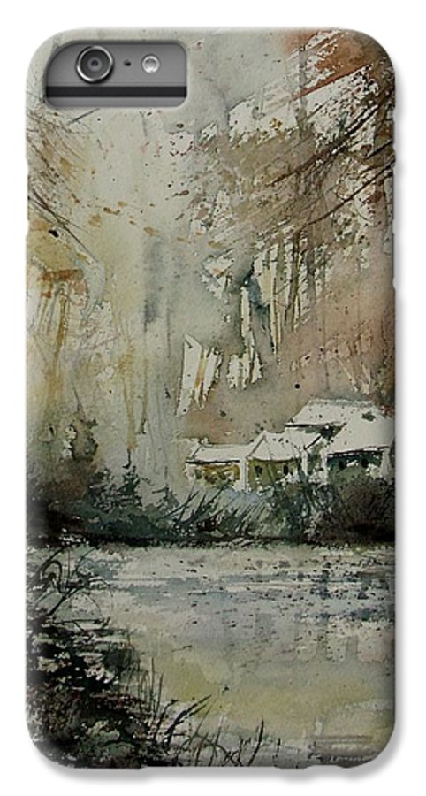 Landscape IPhone 7 Plus Case featuring the painting Watercolor 070608 by Pol Ledent